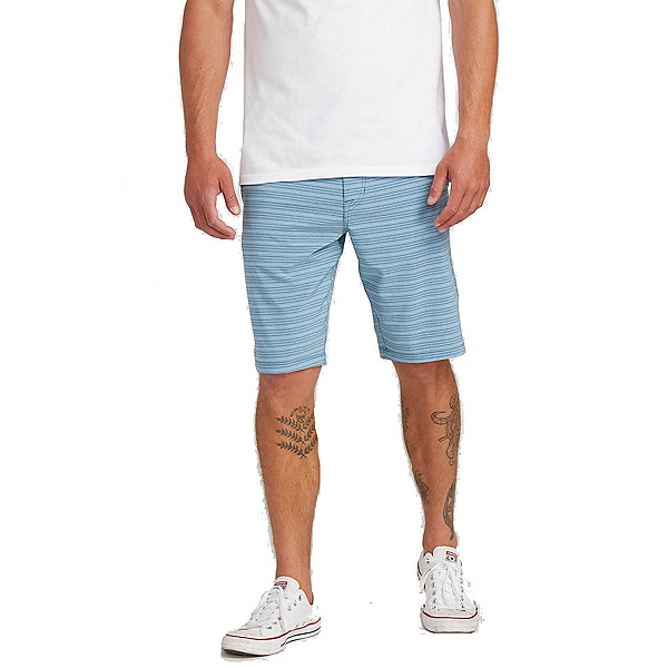 Volcom Frickin Surf n Turf Mix Mens Hybrid Shorts, Vintage Blue, 600