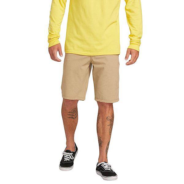 Volcom Frickin Surf N Turf Static 2 Mens Hybrid Shorts, Dark Khaki, 600