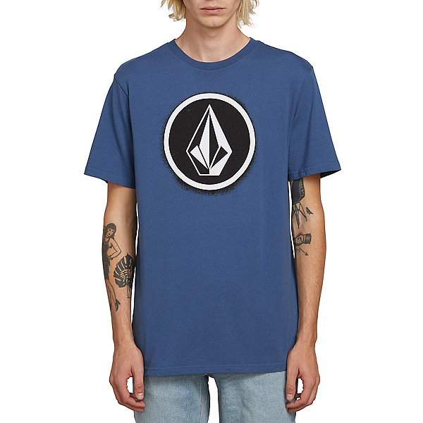 Volcom Spray Stone Mens T-Shirt, Indigo, 600