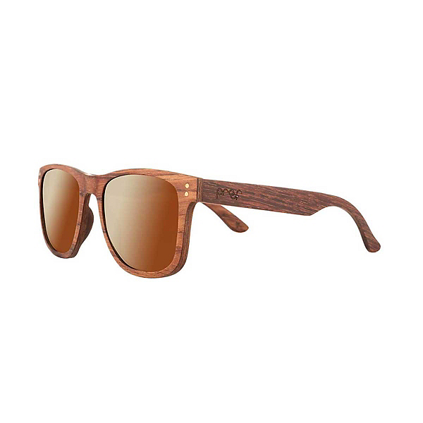 Proof Eyewear Ontario Wood Polarized Sunglasses, Mahogany Brown Fade Polarized, 600