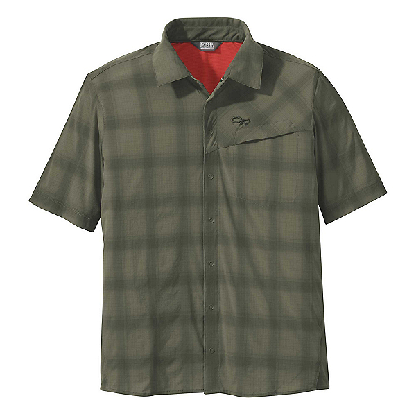 Outdoor Research Astroman Short Sleeve Sun Mens Shirt 2019, Fatigue, 600