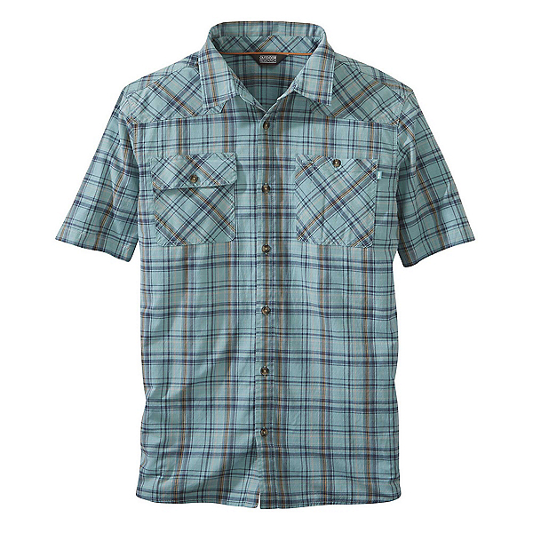 Outdoor Research Growler II Mens Shirt 2019, Seaglass Plaid, 600