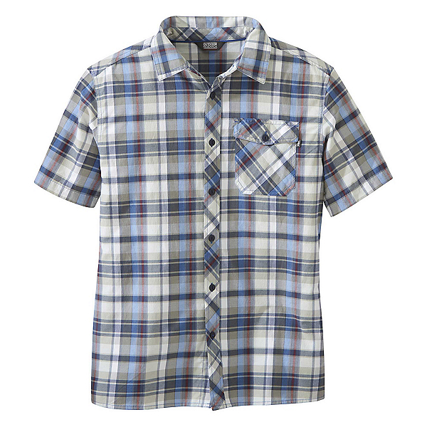 Outdoor Research Pale Ale Mens Shirt, Cobalt Large Plaid, 600