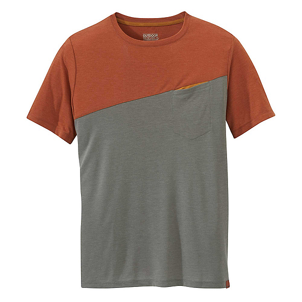 Outdoor Research Clearwater Mens T-Shirt 2019, Burnt Orange-Pewter, 600