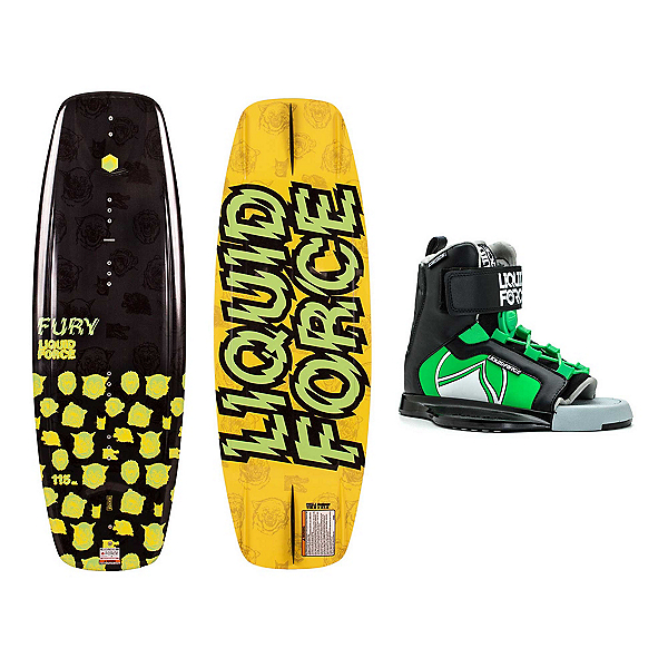 Liquid Force Fury Kids Wakeboard With Rant Bindings, 115cm, 600