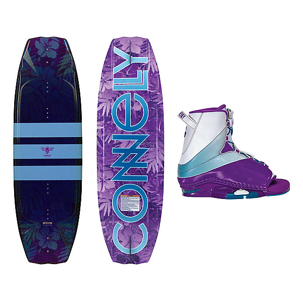 Connelly Lotus Womens Wakeboard With Karma Bindings, , 600
