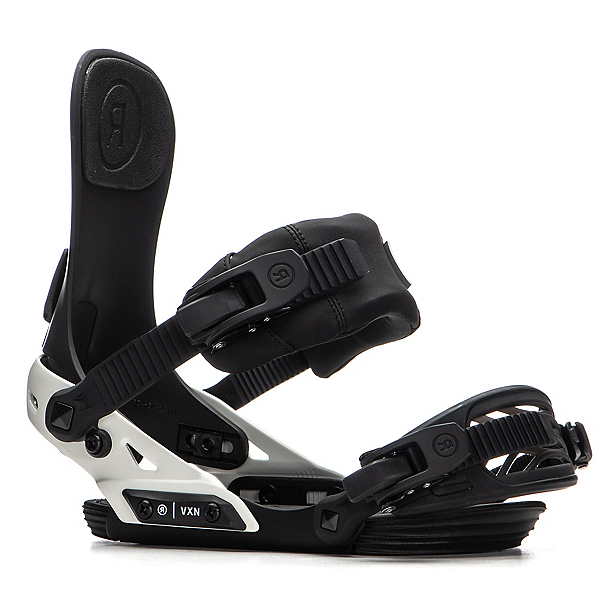 Ride VXN Womens Snowboard Bindings 2020, Black-Off White, 600