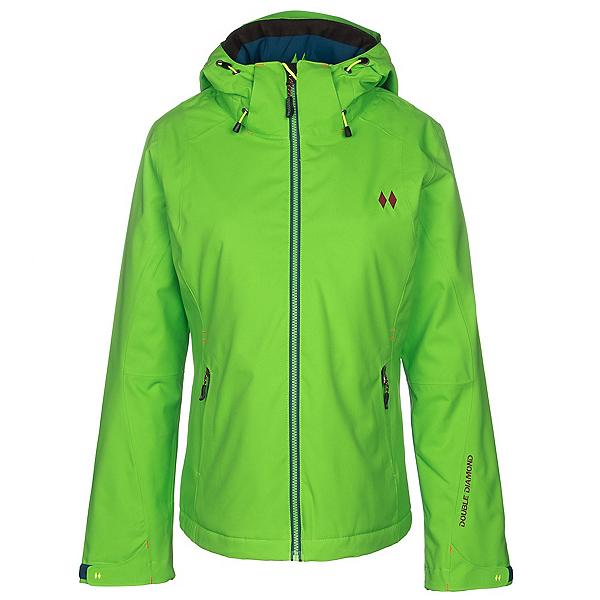 Double Diamond Crest Womens Insulated Ski Jacket, Bright Green, 600