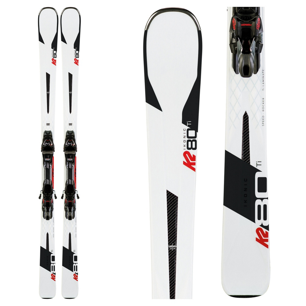 K2 iKonic 80 Ti Skis with MXC 12 TCx Light Quikclik Bindings 2020