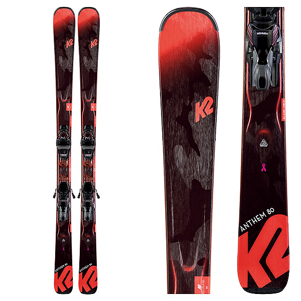 K2 Anthem 80 Womens Skis with ERC 11 TCx light Quikclik Bindings 2020, , 600