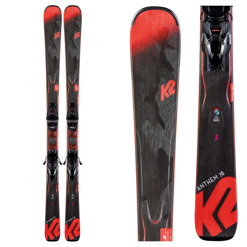 K2 Anthem 78 Womens Skis with ER3 10 Quikclik Bindings 2020