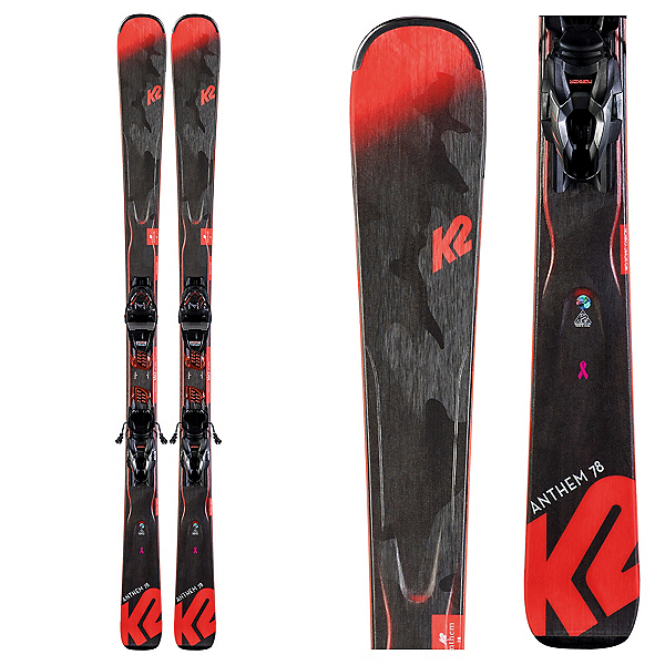 K2 Anthem 78 Womens Skis with ER3 10 Quikclik Bindings 2020, , 600