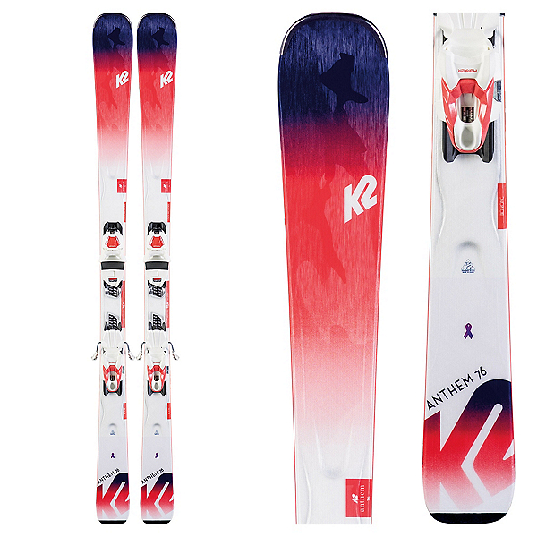 K2 Anthem 76 Womens Skis with ERP 10 Quikclik Bindings, , 600