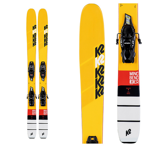 K2 Mindbender Jr.4.5 Kids Skis with FDT Jr 4.5 Bindings 2020, , 600