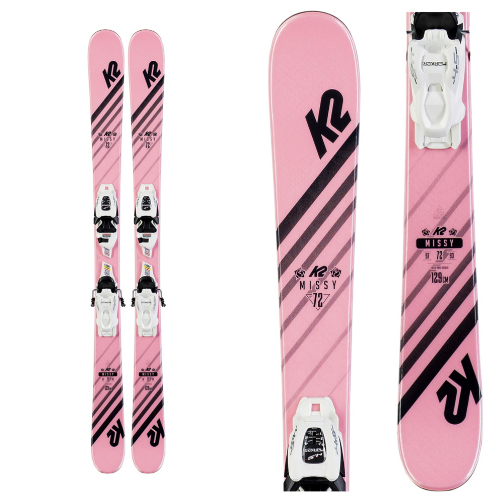 K2 Missy Kids Skis with FDT Jr 7.0 Bindings 2020