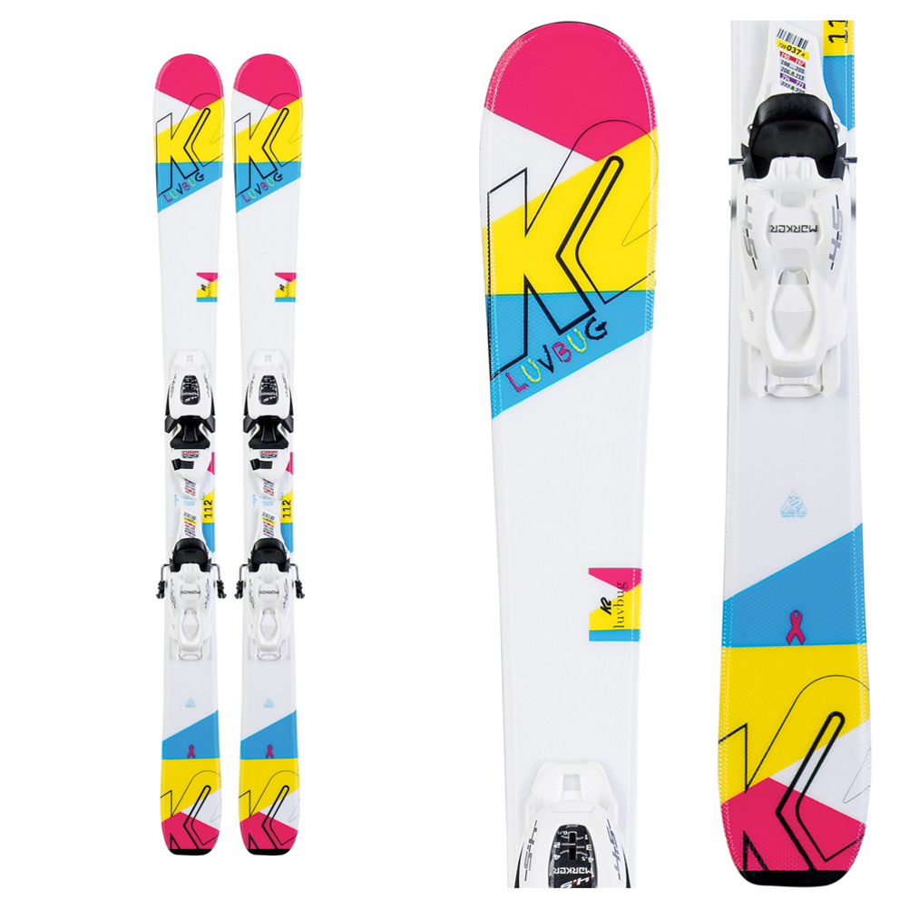 K2 Luvbug Kids Skis with FDT Jr 4.5 Bindings 2020