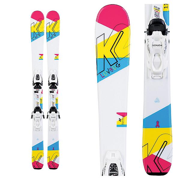 K2 Luvbug Kids Skis with FDT Jr 4.5 Bindings, , 600