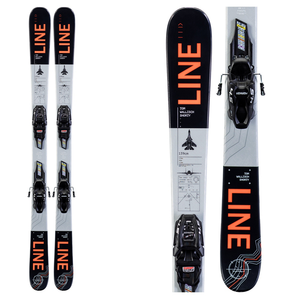 Line Tom Wallisch Shorty Kids Skis with FDT 4.5 Bindings 2020