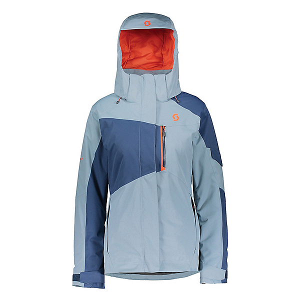 Scott Ultimate Dryo 30 Womens Insulated Ski Jacket, Denim Blue-Blue Haze, 600