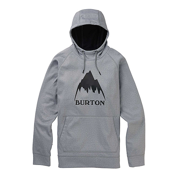 Burton Crown Bonded Pullover Mens Hoodie, Gray Heather, 600