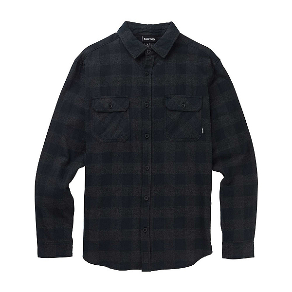 Burton Brighton Flannel Shirt, True Black Heather Buffalo Pla, 600