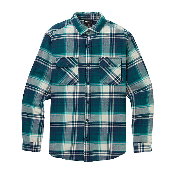Burton Brighton Flannel Shirt 2020, Dress Blue Stump Plaid, 600
