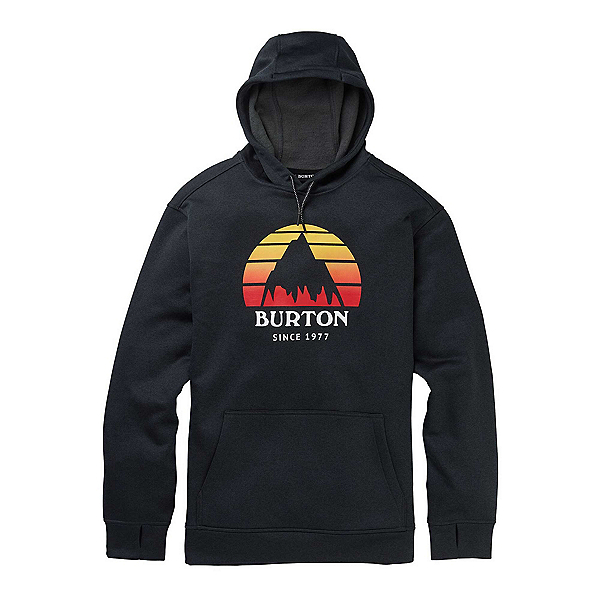 Burton Oak Pullover Mens Hoodie, Sunset True Black Heather, 600