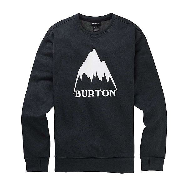 Burton Oak Crew Sweatshirt, True Black Heather, 600