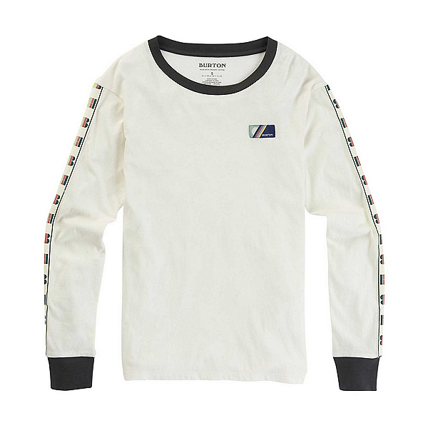 Burton Bel Mar Long Sleeve Womens Shirt 2020, Stout White, 600