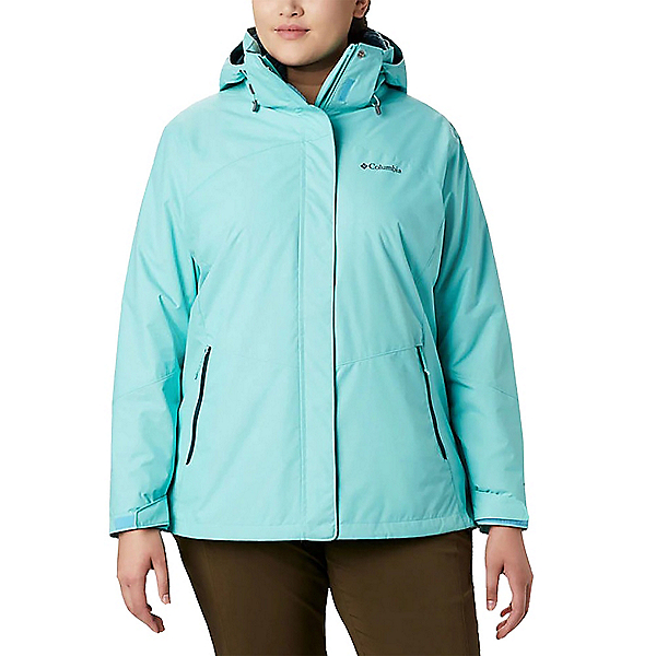 Columbia Bugaboo II Interchange Plus Womens Insulated Ski Jacket, Aquarium-Dark Seas, 600