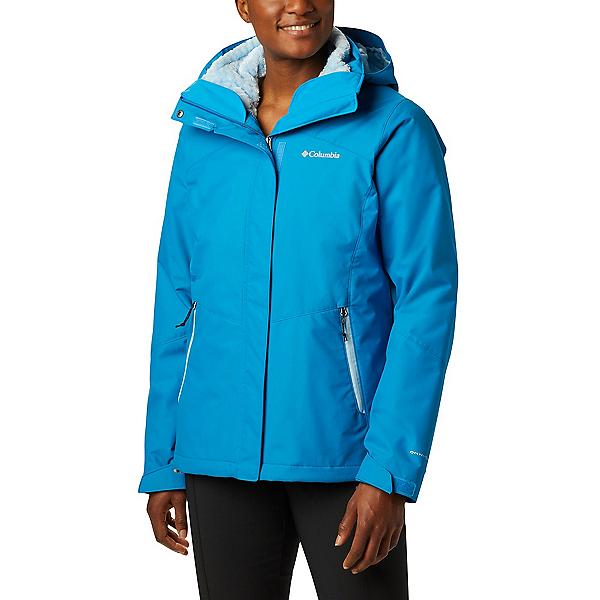 Columbia Bugaboo II Interchange Plus Womens Insulated Ski Jacket 2020, Fathom Blue-Crystal Blue, 600