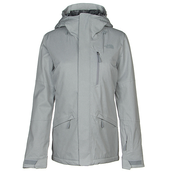 The North Face ThermoBall Snow Triclimate Womens Insulated Ski Jacket, Mid Grey Heather, 600