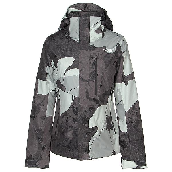 The North Face Garner Triclimate Womens Insulated Ski Jacket, Asphalt Grey Rom Print, 600