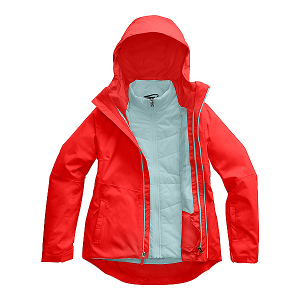 The North Face Clementine Triclimate Womens Insulated Ski Jacket, Fiery Red, 600
