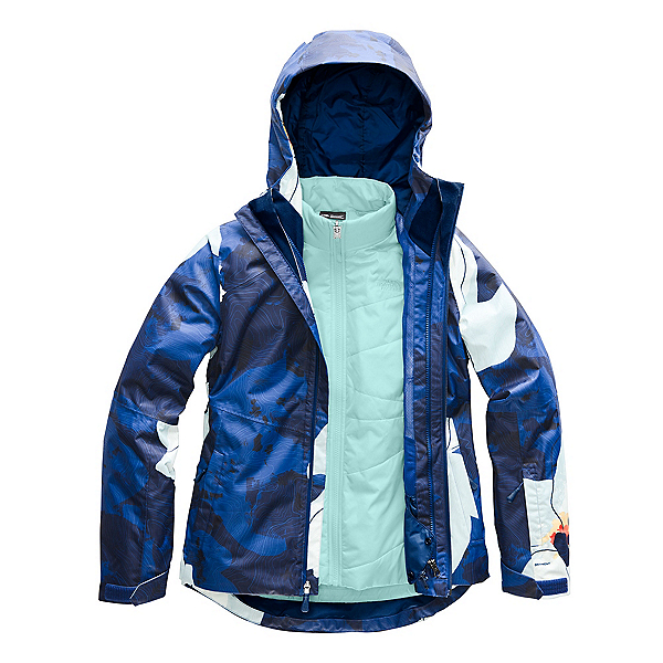 The North Face Clementine Triclimate Womens Insulated Ski Jacket, Flag Blue Rom Print, 600