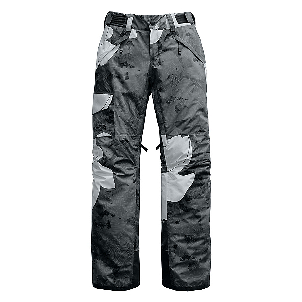 The North Face Freedom Insulated Womens Ski Pants (Previous Season) 2020, Asphalt Grey Rom Print, 600