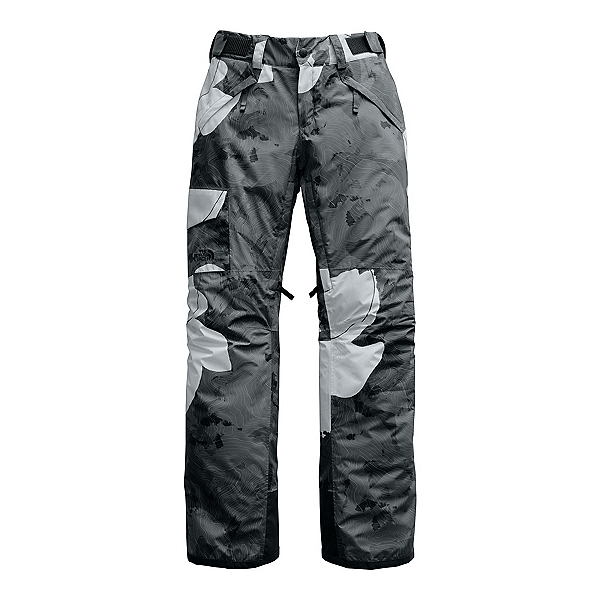 The North Face Freedom Insulated Long Womens Ski Pants, Asphalt Grey Rom Print, 600