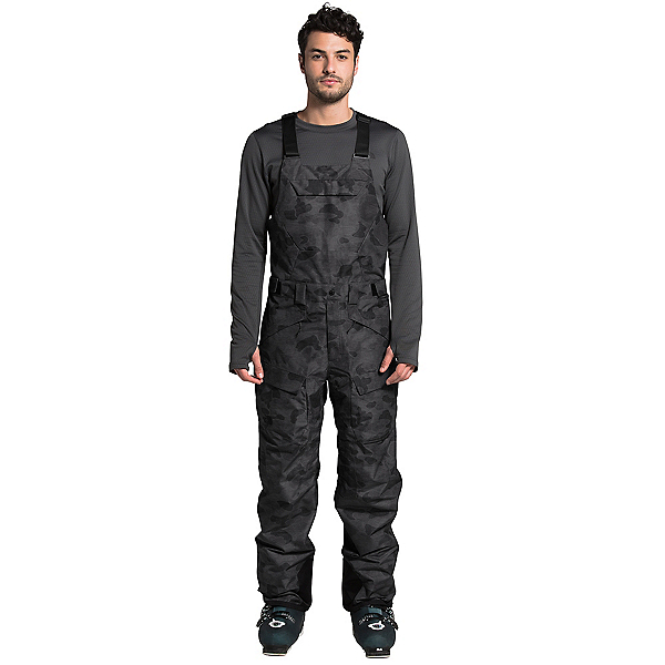 The North Face Freedom Bib - Short Mens Ski Pants, TNF Black Tonal Duck Camo Prin, 600