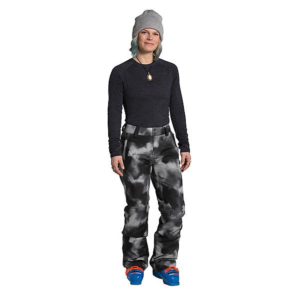 The North Face Sally Womens Ski Pants, TNF Black Ink Blur Print, 600