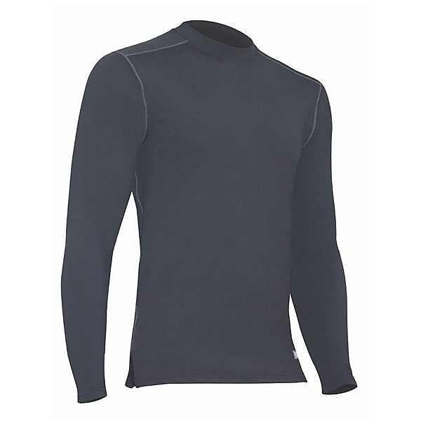 PolarMax Comp4 Crew Mens Long Underwear Top, Black, 600