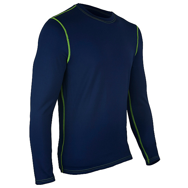 PolarMax Core 4.0 Longsleeve Crew Mens Long Underwear Top, Navy, 600