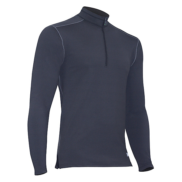 PolarMax Core 4.0 Mock Zip Mens Long Underwear Top, Anthracite, 600