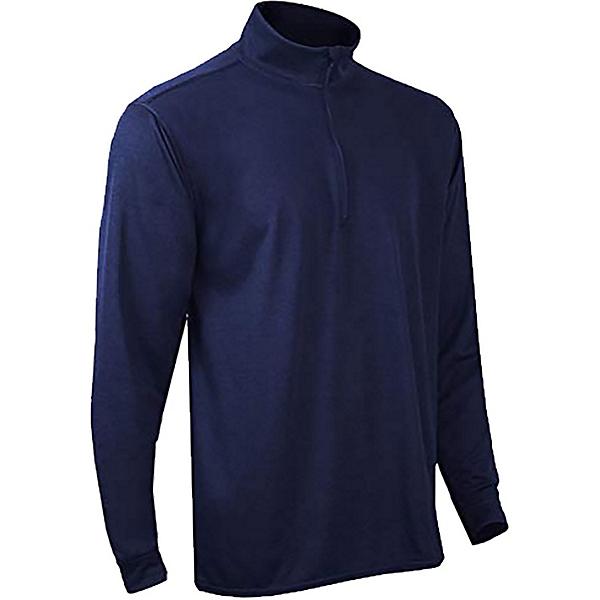 PolarMax Double Layer Mock Zip Mens Long Underwear Top, Indigo, 600