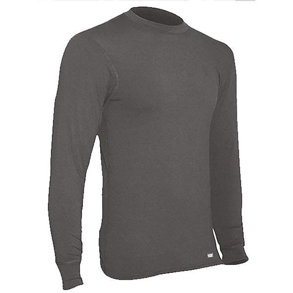 PolarMax 4-Way Stretch Crew Mens Long Underwear Top, Black, 600