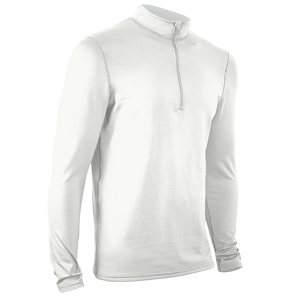 PolarMax Core 3.0 Zip Mock Neck Mens Long Underwear Top, White, 600