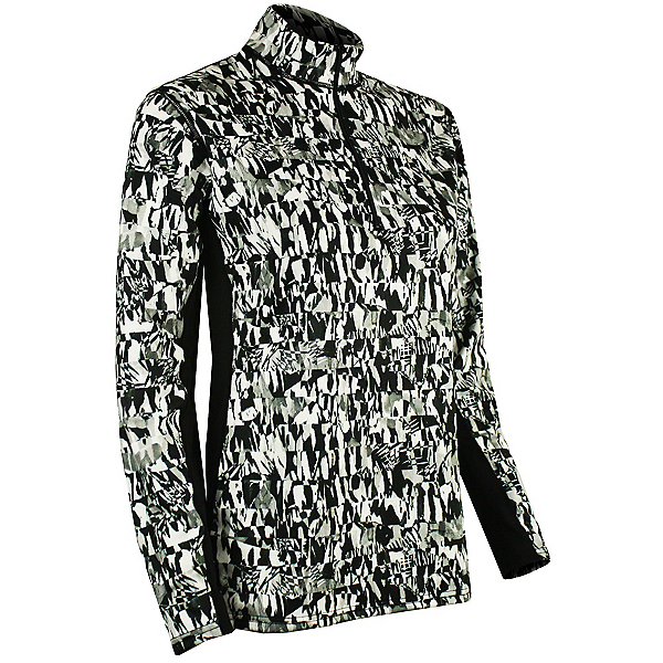 PolarMax Core 3.0 Paneled Zip-Neck Womens Long Underwear Top, Little Black Print, 600