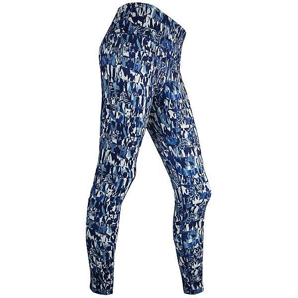 PolarMax LIFE Panel Tight Womens Long Underwear Pants 2018, Liza Print-Blue, 600