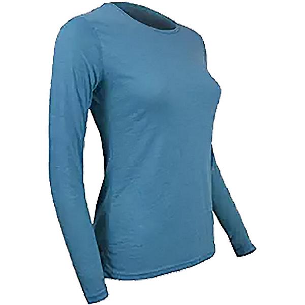 PolarMax Montana Wool Crew Womens Long Underwear Top, Aqua, 600