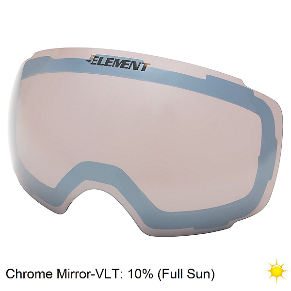 5th Element Stealth M Goggle Replacement Lens, Chrome Mirror, 600