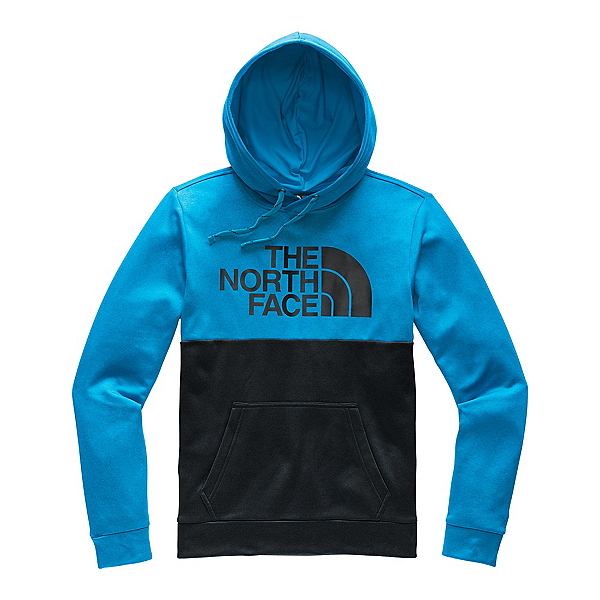 The North Face Surgent Bloc Mens Hoodie, Acoustic Blue Heather-TNF Blac, 600